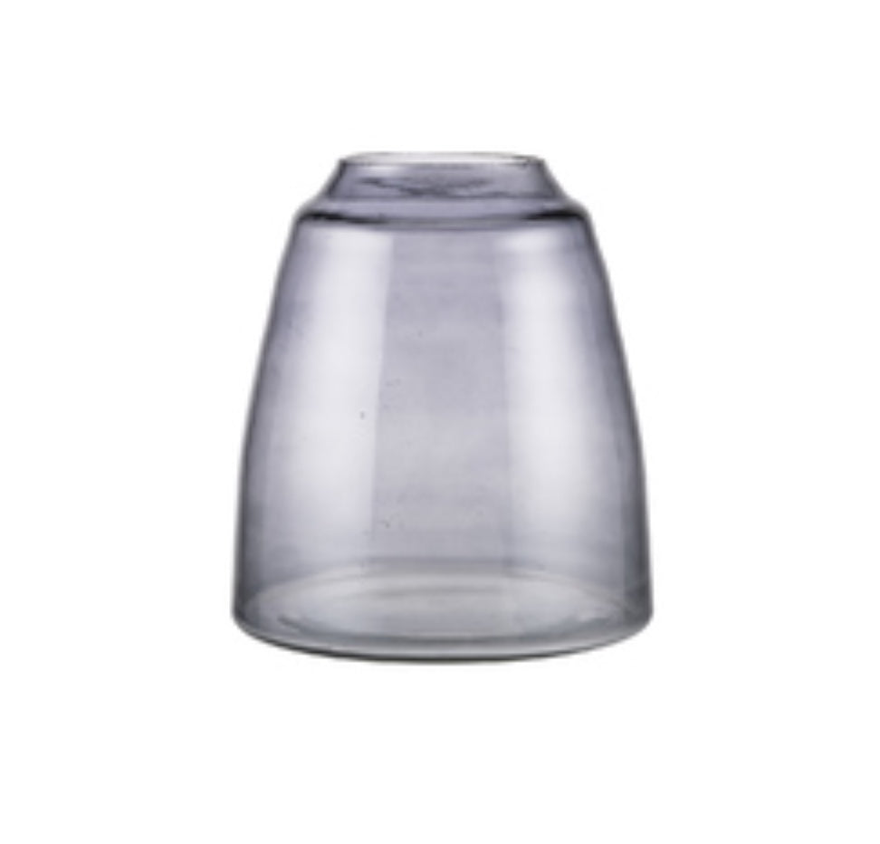 zakkia tapered vase in smoke