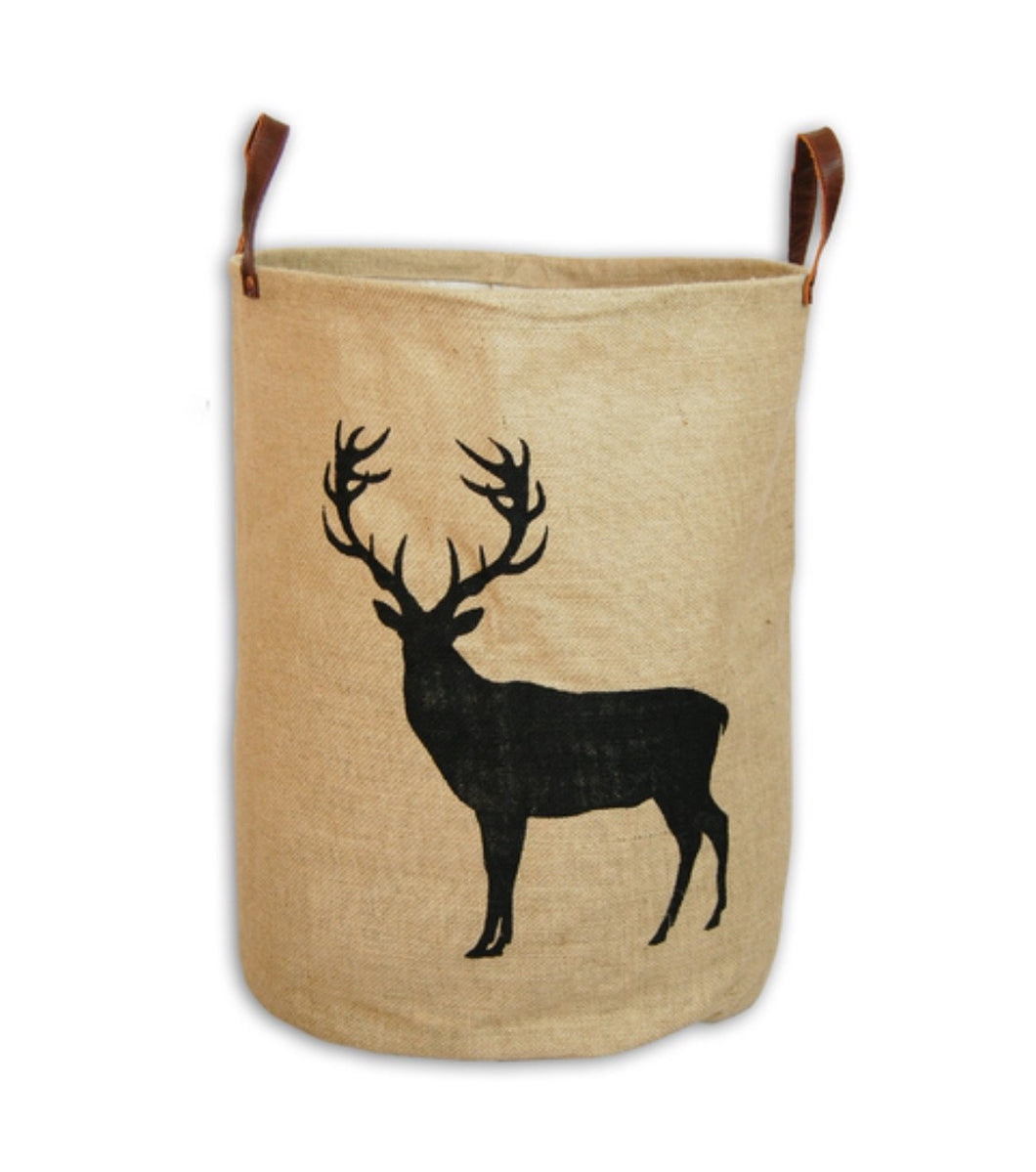 zakkia deer jute storage basket