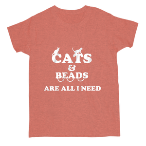 Cats and Beads are All I Need Softstyle Unisex Tee