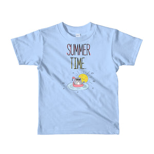 Summer Time Black Short sleeve kids t-shirt