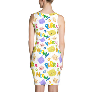 Meow and Purr Sublimation Cut & Sew Dress