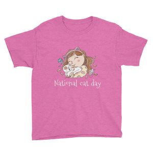National Cat Day Youth Short Sleeve T-Shirt
