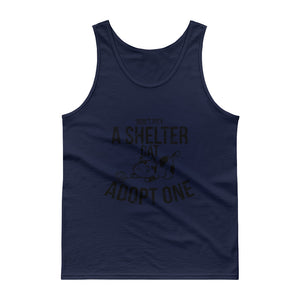 Don't Pity A Shelter Cat Adopt One - Black Tank top