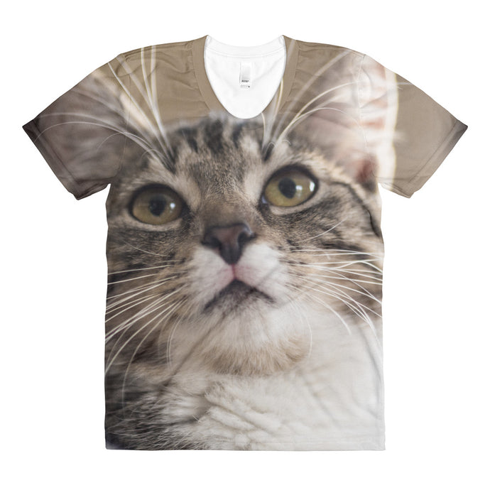 Cat's Stare Up Women's Sublimation Shirt