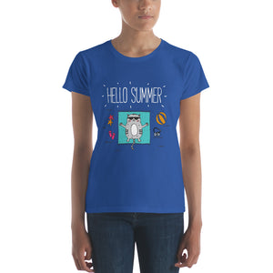 Hello Summer WhiteWomen's short sleeve t-shirt