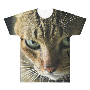 Cat's Face All-Over Printed Unisex T-Shirt