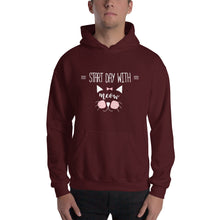 Start a Day Cat Hooded Sweatshirt
