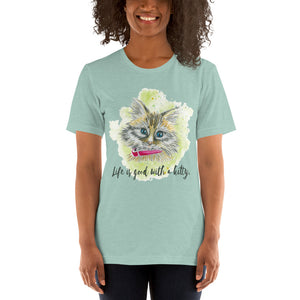 Watercolor Cat 2 Short-Sleeve Unisex T-Shirt