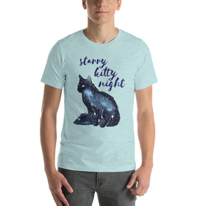 Starry Kitty Night Short-Sleeve Unisex T-Shirt