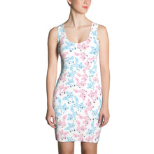 Pink and Blue Cats Sublimation Cut & Sew Dress