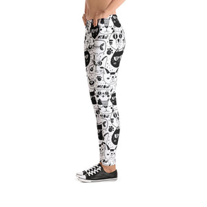 Black and White Cats Leggings