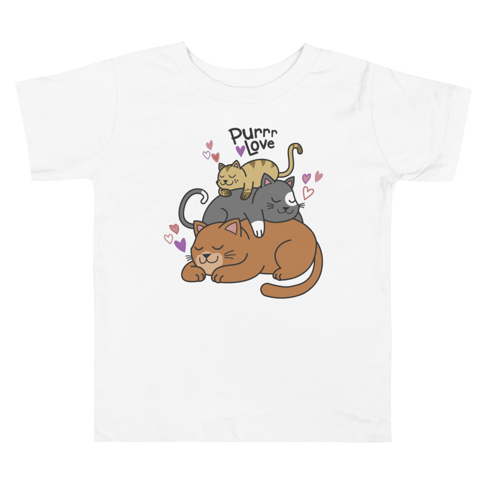 Purr Love Toddler Short Sleeve Tee