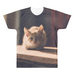 Cute Cat All-Over Printed Unisex T-Shirt
