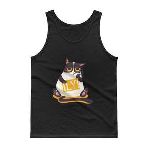 ILY Cat Signboard Tank top