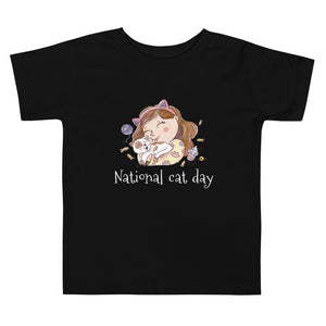 National Cat Day Toddler Short Sleeve Tee