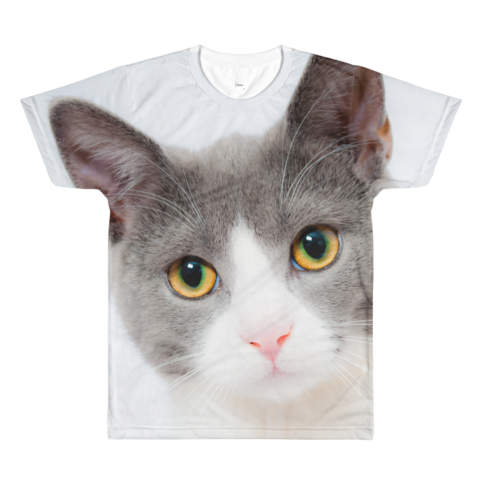 Cute Cat Stare Unisex All-Over Printed T-Shirt