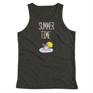 Summer Time White Youth Tank Top