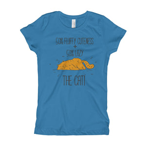50 Percent Cuteness and Lazy Girl's T-Shirt
