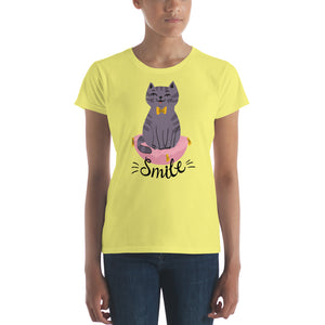 Cat Smile Women's short sleeve t-shirt