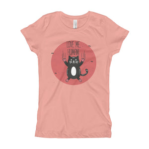 Love Me Human Black Girl's T-Shirt