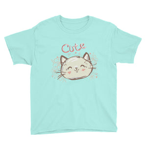 Cute Cat Youth Short Sleeve T-Shirt
