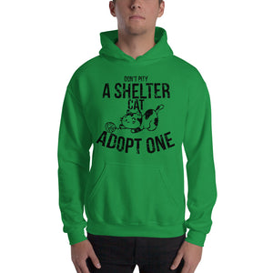 Don't Pity A Shelter Cat Adopt One - Black Hooded Sweatshirt