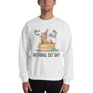Give Me My Box National Cat Day Sweatshirt