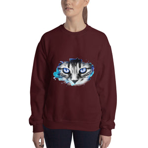 Blue Cat Stare Sweatshirt