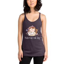 National Cat Day Women's Racerback Tank