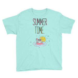 Summer Time Black Youth Short Sleeve T-Shirt