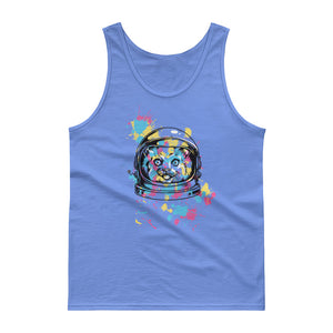 Space Cat with Ink Splash Tank top