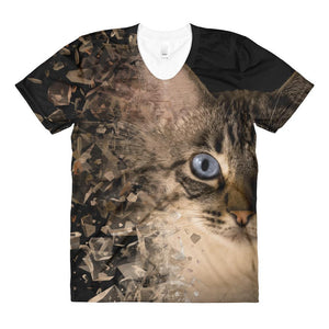 Brown Eyes Sublimation Women's Crew Neck T-shirt
