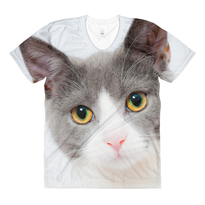 Cute Cat Stare Women's Sublimation Shirt