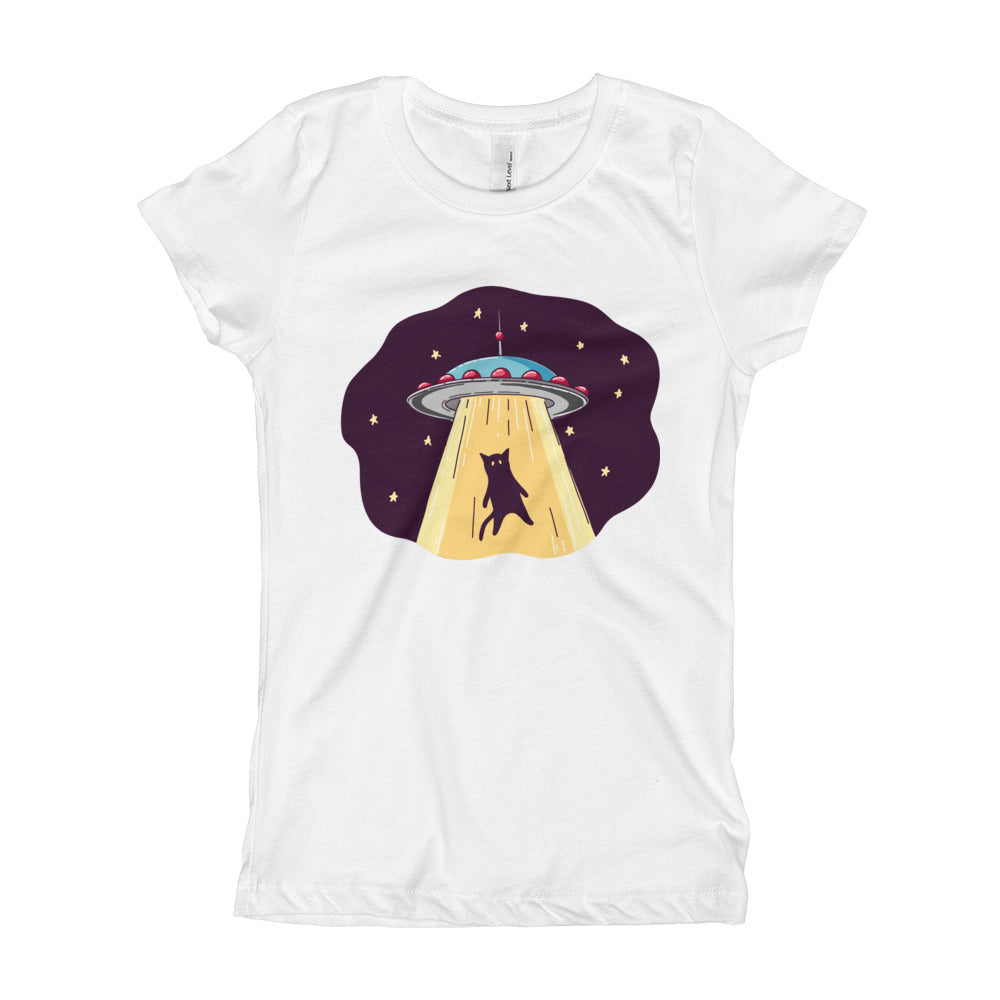 UFO Abduction Girl's T-Shirt
