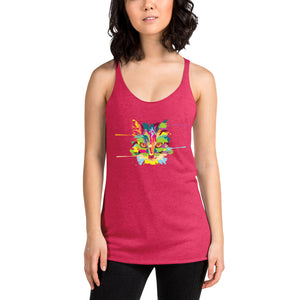 Cat Art Women's Racerback Tank