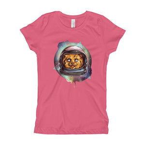 Space Cat Girl's T-Shirt