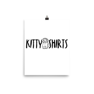 Kitty Shirt Brand Poster