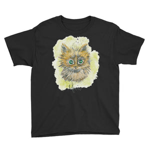 Watercolor Cat Youth Short Sleeve T-Shirt