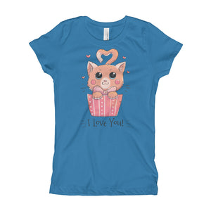 Cat Loves You Girl's T-Shirt