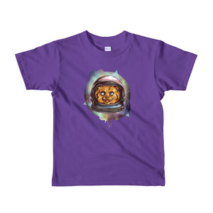 Space Cat Short sleeve kids t-shirt
