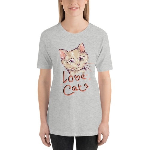 Heart Cats Short-Sleeve Unisex T-Shirt