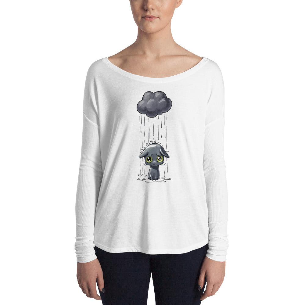 Sad Cat Ladies' Long Sleeve Tee