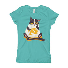 ILY Cat Signboard Girl's T-Shirt