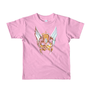Helmeted Cat Short sleeve kids t-shirt
