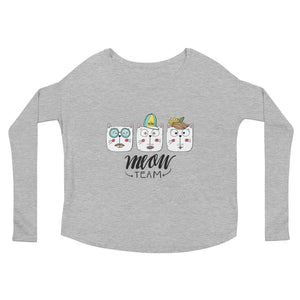 Meow Team Ladies' Long Sleeve Tee
