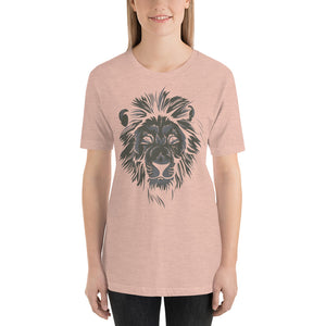 Monochrome Lion Short-Sleeve Unisex T-Shirt