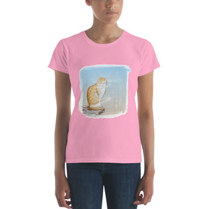 Cat Painting Women's short sleeve t-shirt