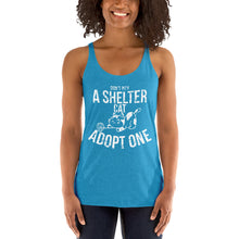 Don't Pity A Shelter Cat Adopt One Women's Racerback Tank
