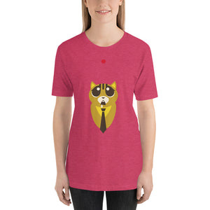 Poor Cat and the Red Dot Short-Sleeve Unisex T-Shirt