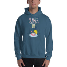 Summer Time White Hooded Sweatshirt